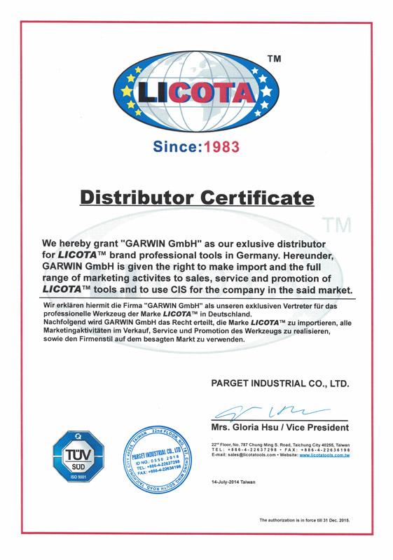 Distributor-Certificate-Garwin